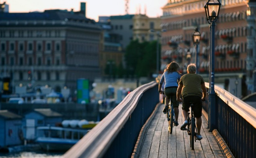 Stockholm, on two wheels