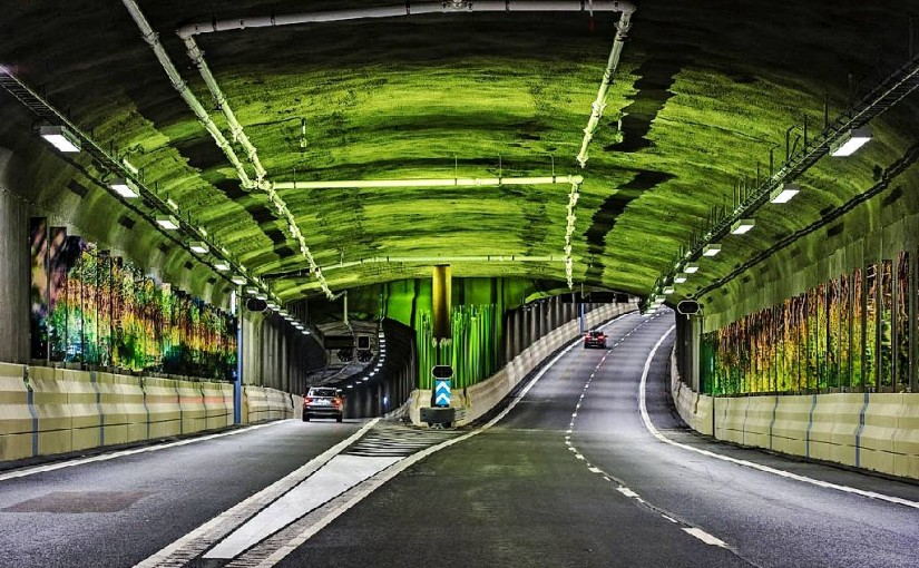 50 million Swedish kronor spent on 6 art pieces inside a bloody road tunnel