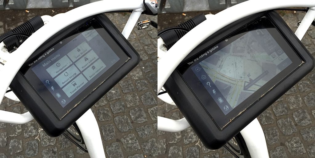 Bycyklen: touchscreen & GPS navigation