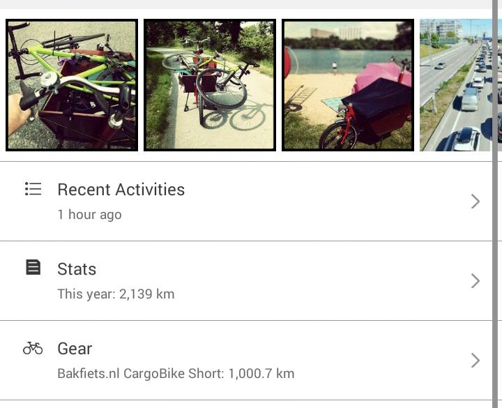 Bakfiets CargoBike Short, 1000 kilometers in 4 months