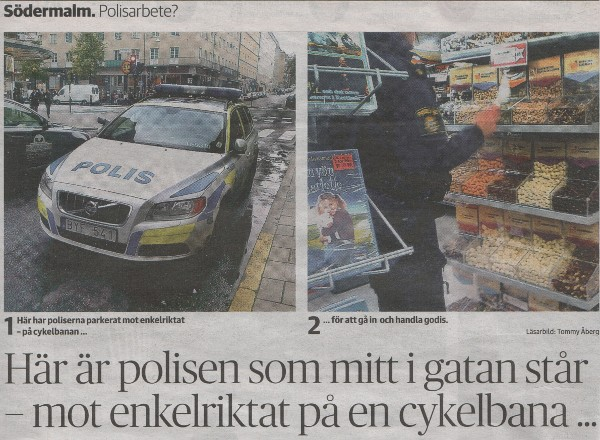 police at work on Södermalm