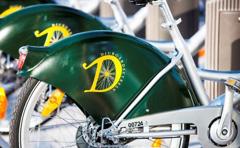 new bicycle hire scheme on Djurgården