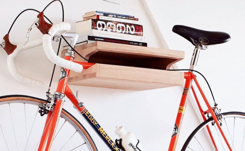 Handcrafted Solid Oak Wood Bike Rack